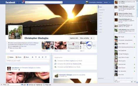 New Facebook profile