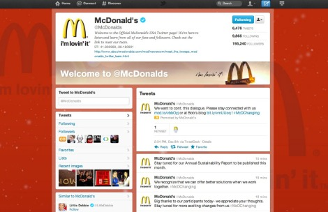 McDonalds new Twitter profile